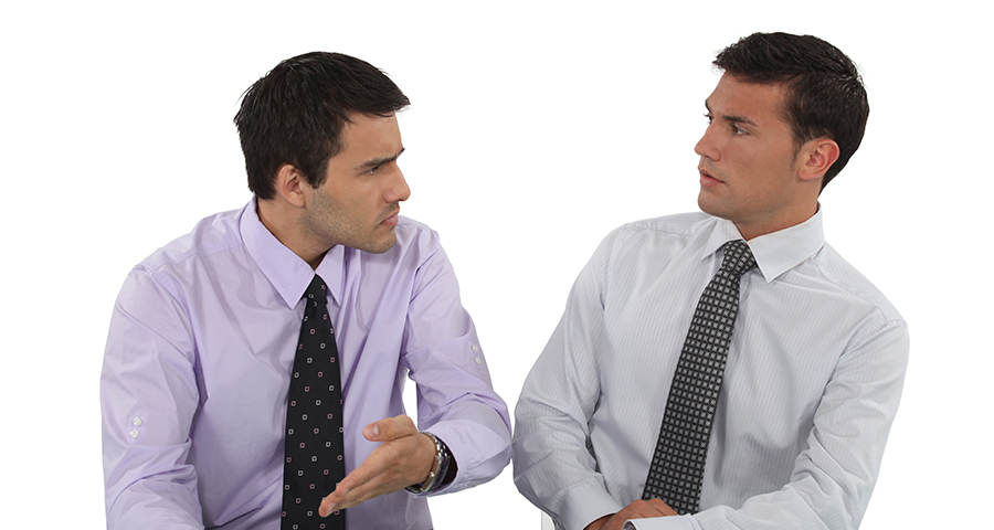 Two business men having an intense discussion