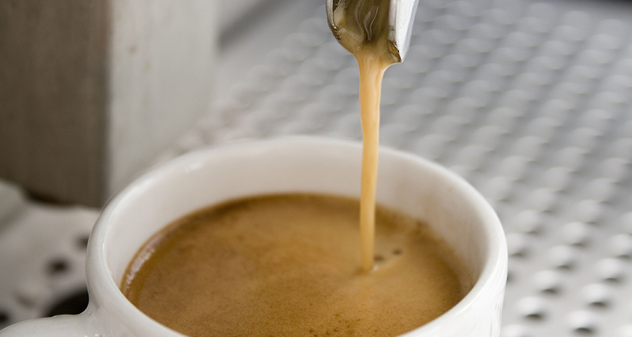 cup of coffee being made