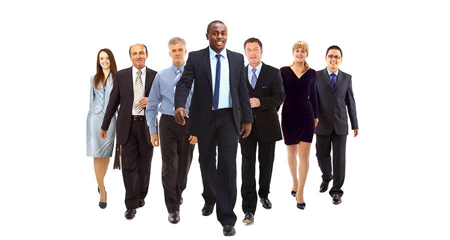 diverse group of business men and women