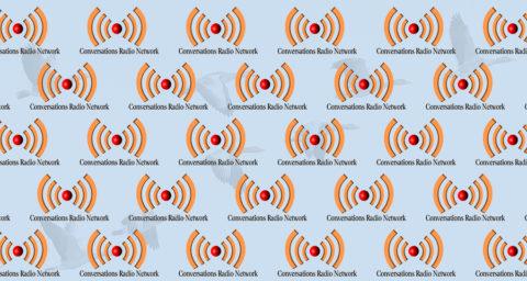 conversation radio network logo background