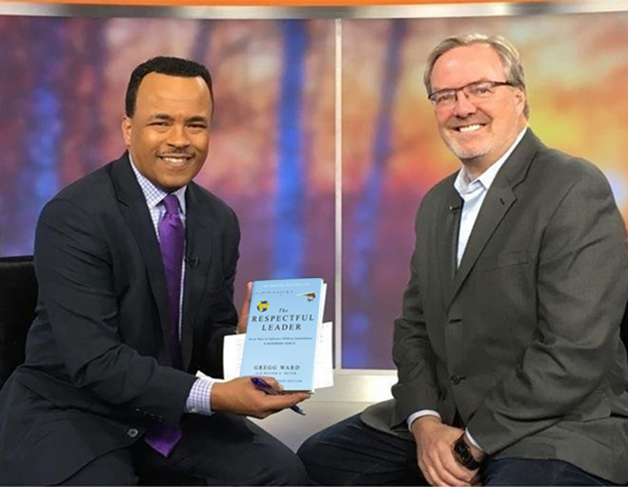 Gregg appearing on WJLA with Respectful Leadership book