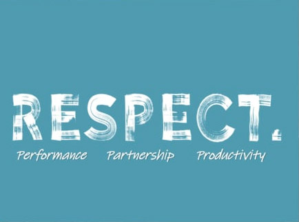 Respect. Performance, Partnership, Productivity video